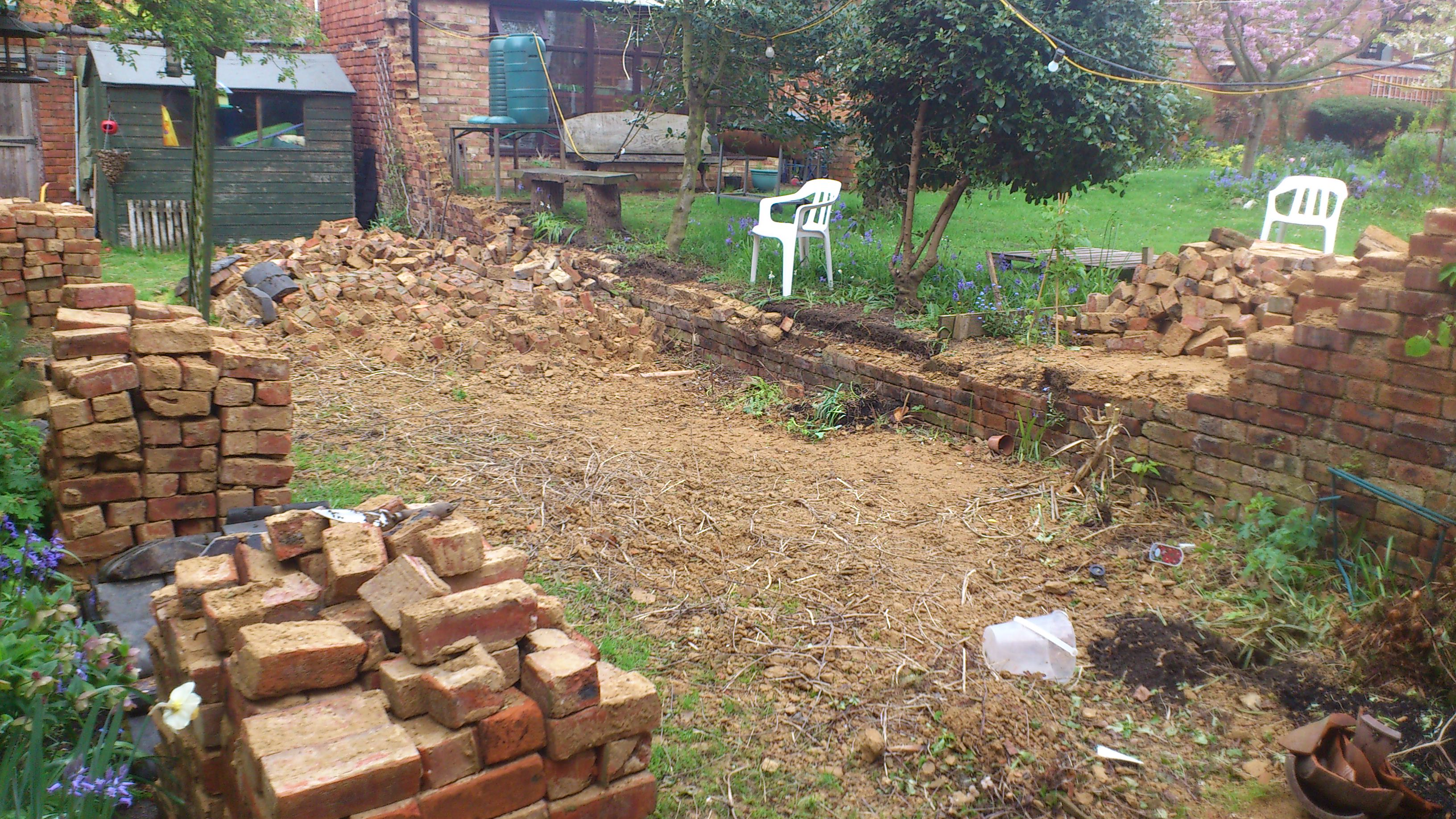 Sick of chipping away at bricks to recover ruined garden; an update ...