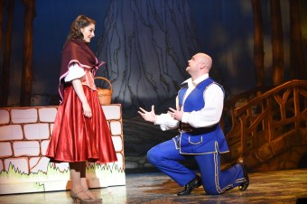Rachel Flynn as Cinderella Danny Posthill as Buttons Pic Robert Day